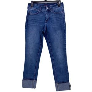 NYDJ Ankle Clean Cuff Blue Jeans Size 2